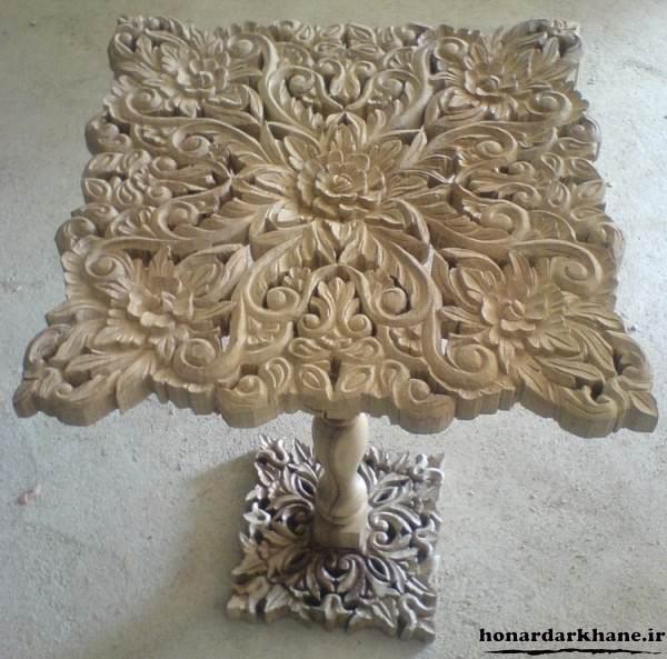مدل میز منبت چوبی