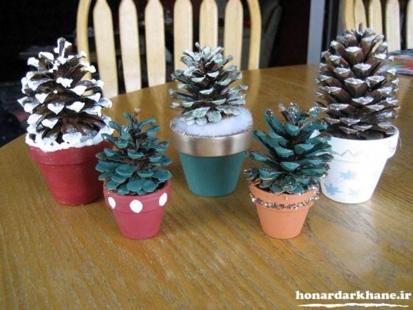 ساخت گلدان با وسایل ساده