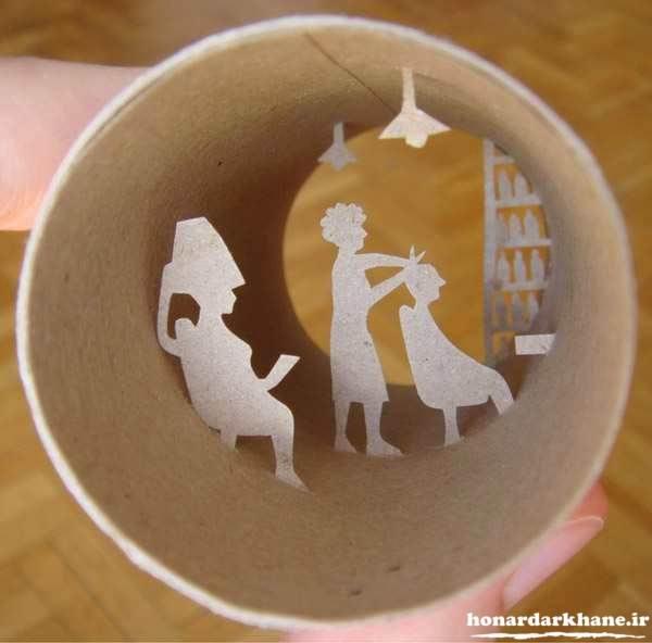 کاردستی خلاقانه با رول دستمای کاغذی