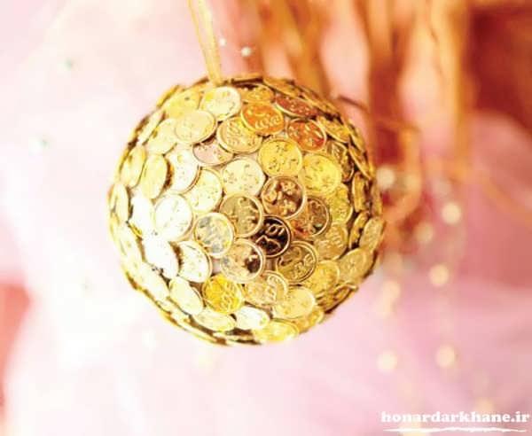 تزیین زیبای سکه برای هفت سین