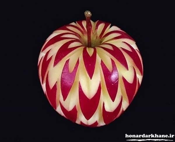 تزیین سیب برای سفره هفت سین