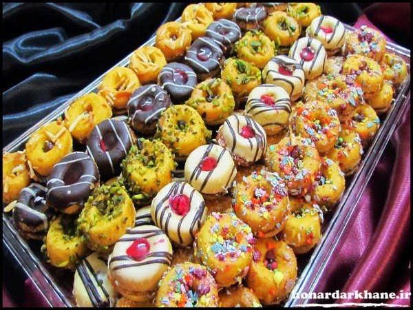 تزیین ساده شیرینی های عید