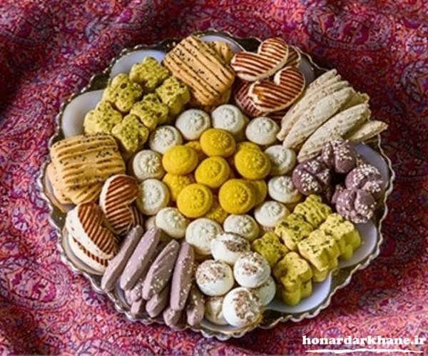 تزیین زیبای شیرینی برای عید