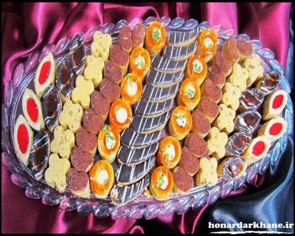 تزیینی شیرینی های عید