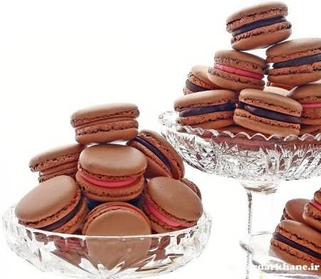 شیرینی ماکارون شکلاتی