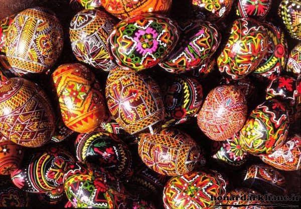 نقاشی روی تخم مرغ برای هفت سین