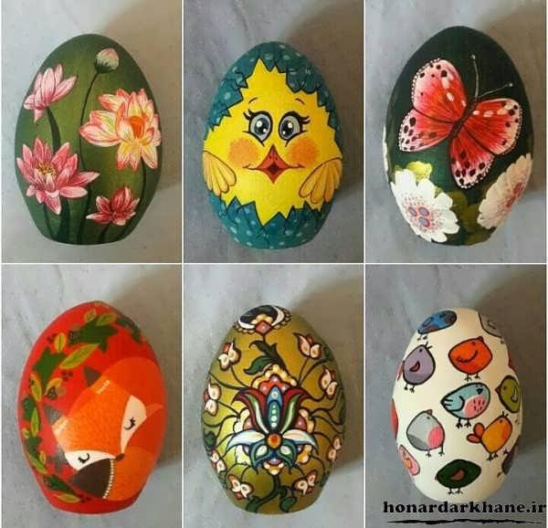مدل نقاشی روی تخم مرغ هفت سین