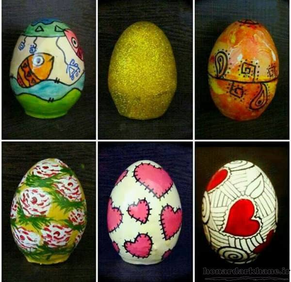نقاشی فانتزی روی تخم مرغ عید