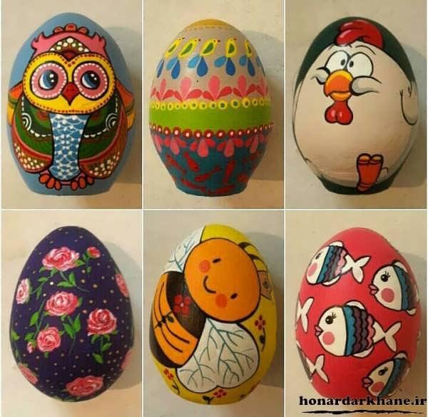 آموزش نقاشی روی تخم مرغ