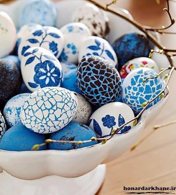 نقاشی روی تخم مرغ سفالی برای عید