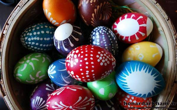 نقاشی روی تخم مرغ سفالی هفت سین
