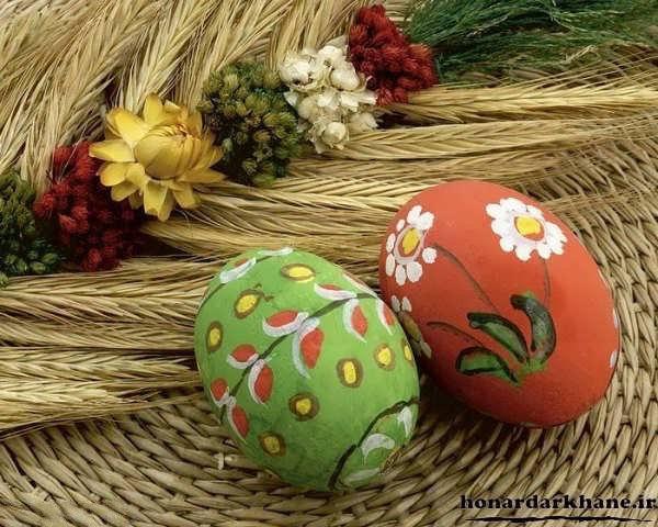 مدل رنگ آمیزی تخم مرغ سفالی