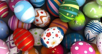 نقاشی روی تخم مرغ سفالی