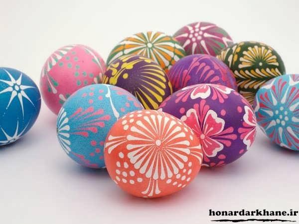 مدل تخم مرغ های سفالی عید