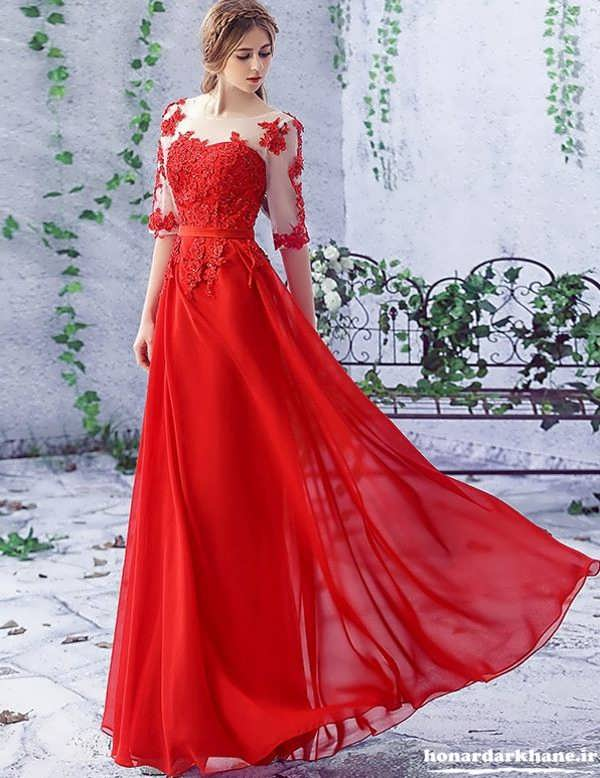 مدل لباس مجلسی حریر شیک و زیبا