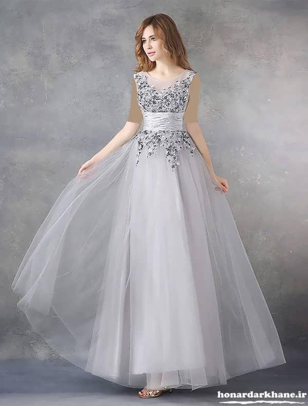 مدل لباس مجلسی شیک و زیبای حریر