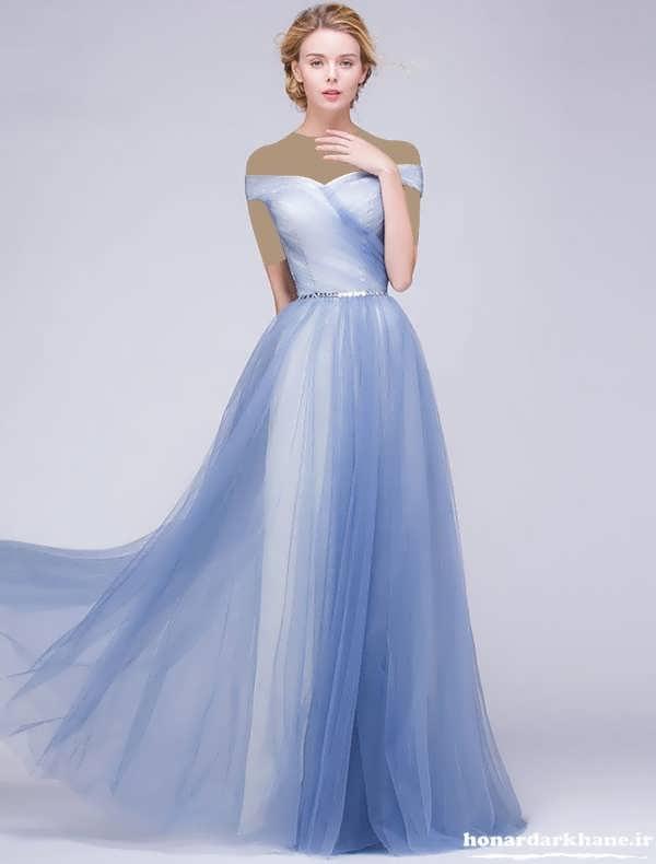 مدل لباس مجلسی با پارچه حریر