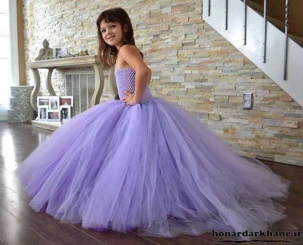 مدل لباس عروس رنگی بچه گانه
