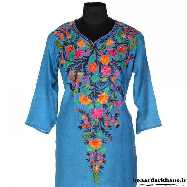 نقاشی روی لباس زنانه