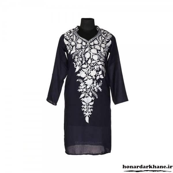 طراحی روی لباس زنانه