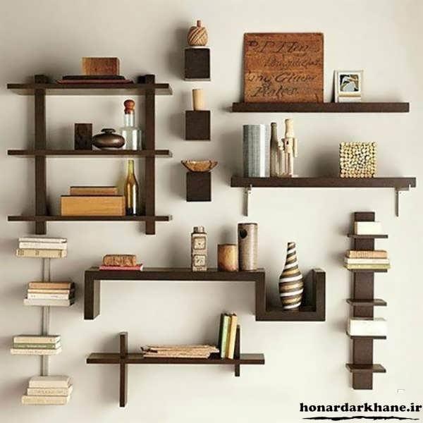 خلاقیت در ساخت قفسه چوبی