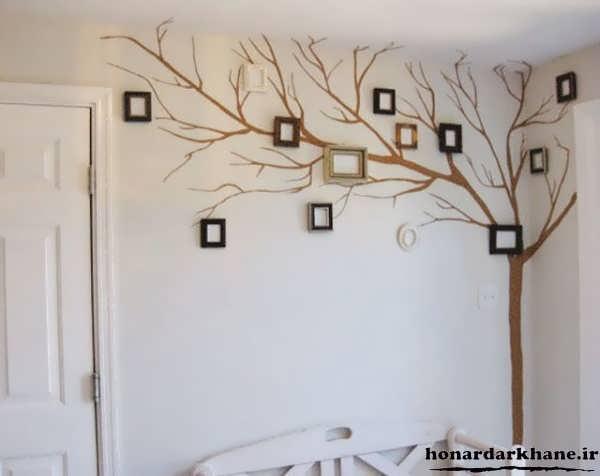 خلاقیت در تزیین دیوارهای خانه