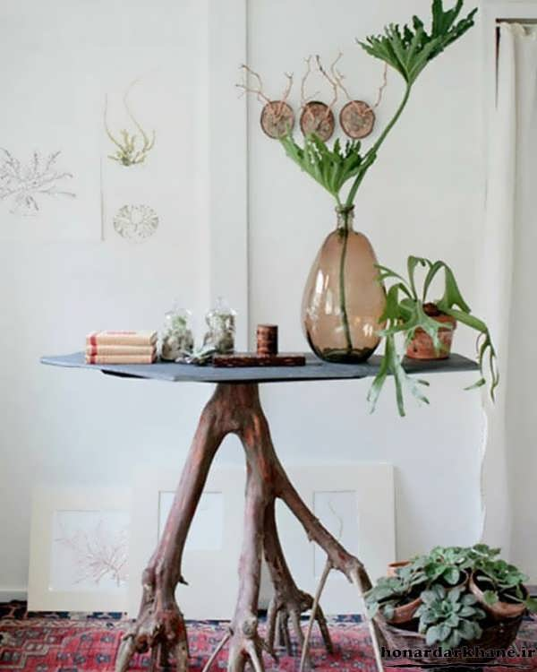 خلاقیت در ساخت میز با چوب