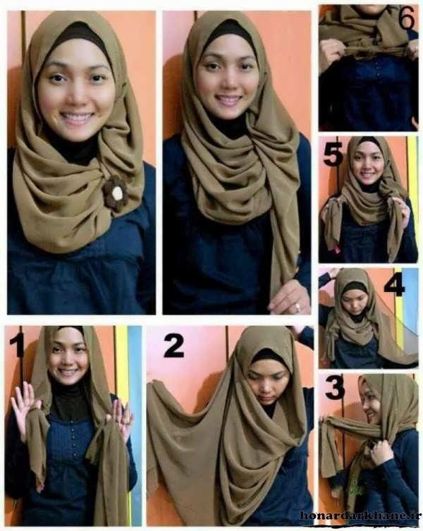 بستن انواع روسری قواره بزرگ