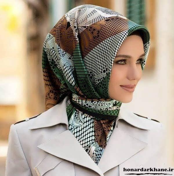 نحوه بستن روسری های مجری صدا سیما مدل بستن روسری جدید.