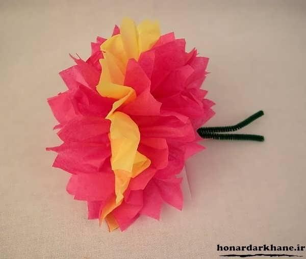 ساختن گل با کاغذ رنگی