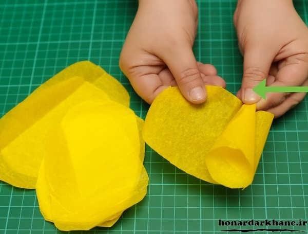 مراحل ساخت گل کاغذی