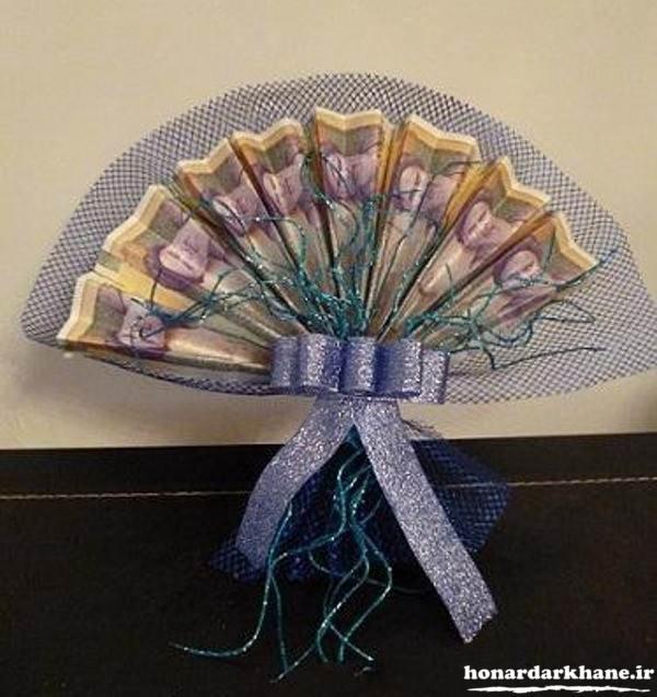 تزیین بادبزنی پول برای کادو