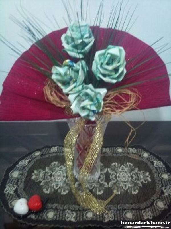 ساخت گل با پول و اسکناس