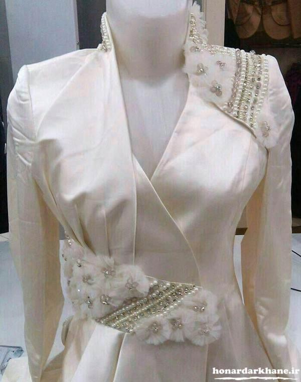 تزیین لباس مجلسی جدید