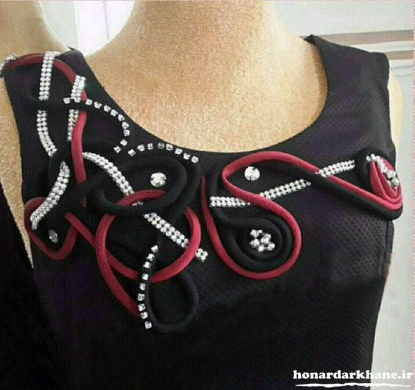 تزیین زیبای لباس زنانه