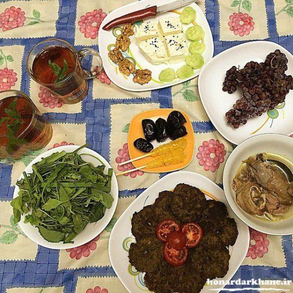 غذا برای افطار و سحر