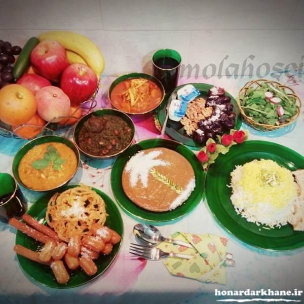غذای مناسب برای سفره افطار