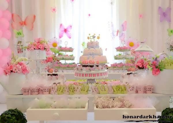 تزیینات زیبای میز تولد دخترانه