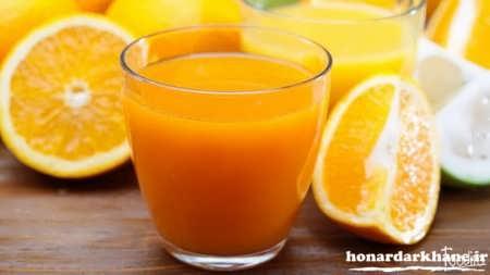 کیک پرتقالی با آب پرتقال