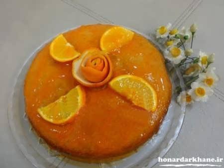 طرز تهیه کیک پرتقالی با سس پرتقال
