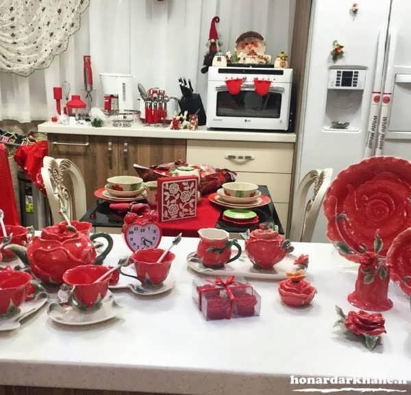 تزیین شیک و زیبای آشپزخانه عروس