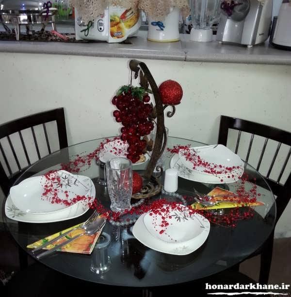 تزیینات داخل آشپزخانه عروس