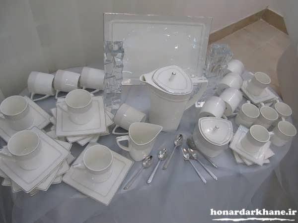 تزیین سرویس چینی عروس