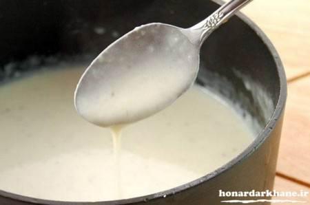 پخت سوپ با شیر و خامه