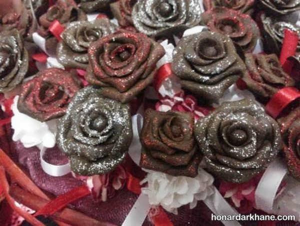تزیین حنای عروس به شکل گل