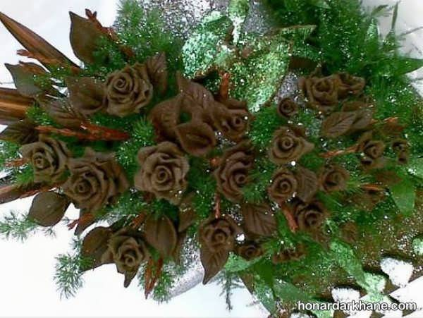 ساخت گل رز با حنا
