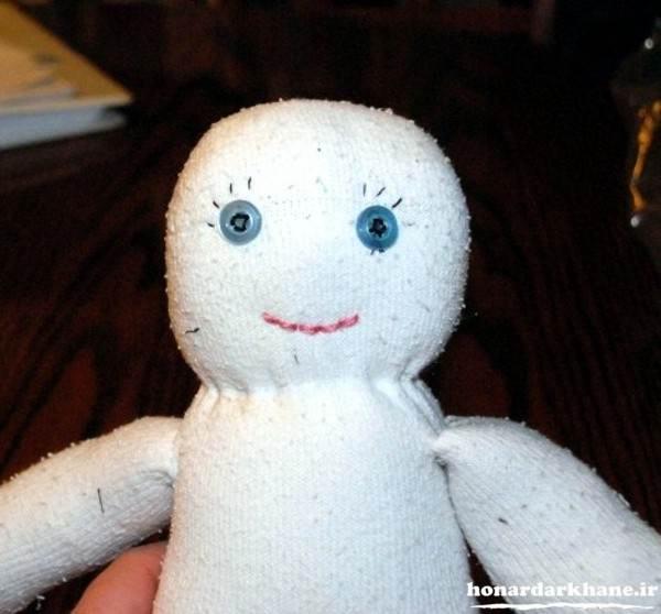 ساخت عروسک دختر با جوراب