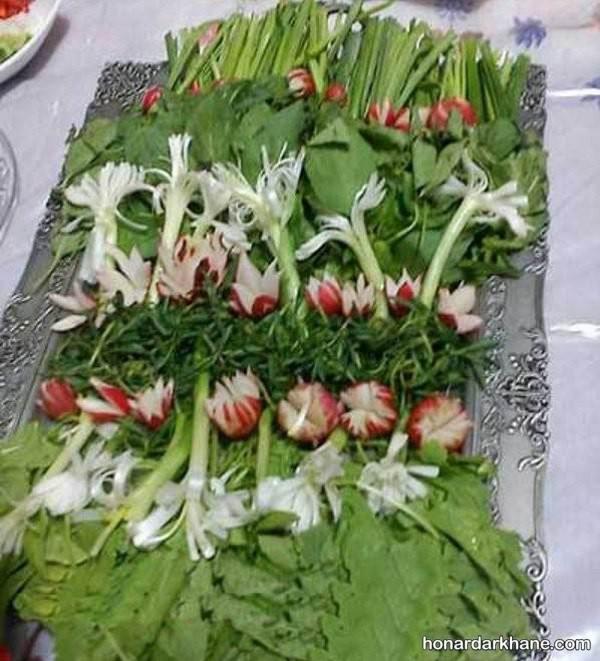 سبزی آرایی با پیازچه