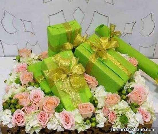 تزیین جعبه هدیه های عروس