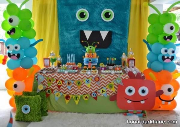 تزیین میز کودکانه برای جشن تولد
